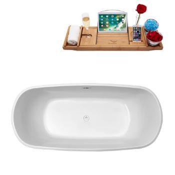 67'' - White Tub Top View