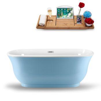 59'' - Blue Tub Side View