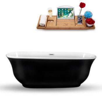 70'' - Black Tub Side View