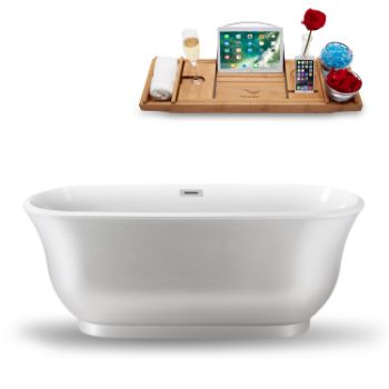 59'' - White Tub Side View