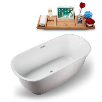 59'' - White Tub Angled View