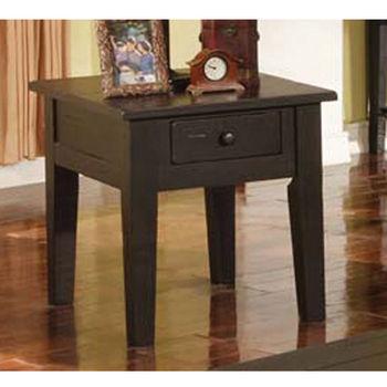 Steve Silver Liberty End Table, Antique Black Finish