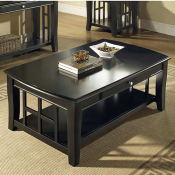 Steve Silver Cassidy Cocktail Table, Black Finish
