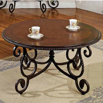 Steve Silver Crowley Cocktail Table, Cherry Finish