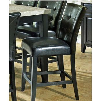 Steve Silver Monarch Counter Parsons Chair, Black Finish