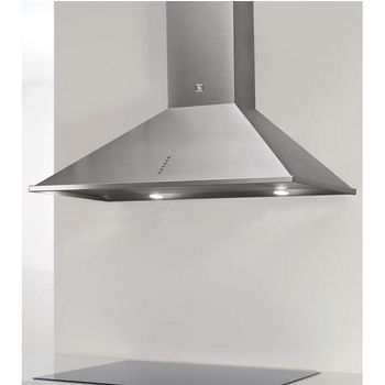 Sirius SU1 Wall Mount Chimney Range Hood, 600 CFM Internal Blower, Stainless Steel, 4 Speed Push Button Control Panel, Halogen Lamps