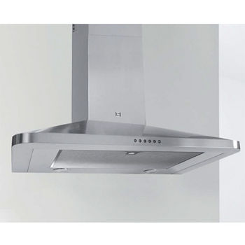 Sirius SU22 Wall Mount Chimney Range Hood, 600 CFM Internal Blower, Stainless Steel, 4 Speed Push Button Control Panel, Dichroic Lamps