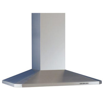 Sirius SU26 Wall Mount Chimney Range Hood, 600 CFM Internal Blower, Stainless Steel, 4 Speed Push Button Control Panel, Halogen Lamps