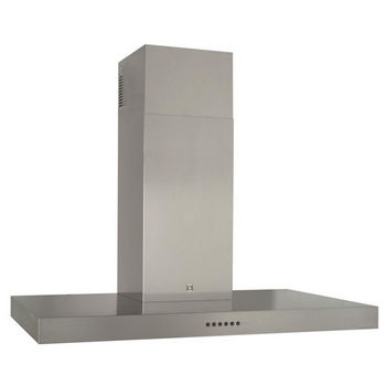 Sirius SU31 Wall Mount Chimney Range Hood, 600 CFM Internal Blower, Stainless Steel, 4 Speed Push Button Control Panel, Halogen Lamps