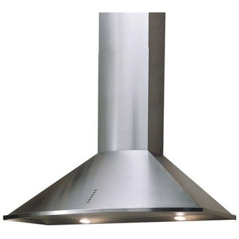 Sirius SU3 Wall Mount Chimney Range Hood, 600 CFM Internal Blower, Stainless Steel, 4 Speed Push Button Control Panel, Halogen Lamps
