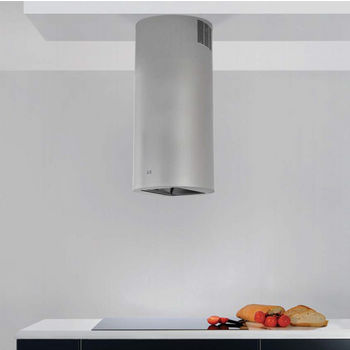 Sirius SU404 Island Range Hood, 600 CFM Internal Blower, Stainless Steel, 4 Speed Remote Control, Dichroic Lamp