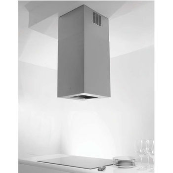 Sirius SU405 Island Range Hood, 600 CFM Internal Blower, Stainless Steel, 4 Speed Remote Control, Dichroic Lamp