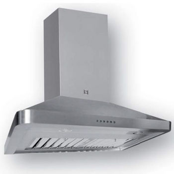 Sirius SU54 Pro-Style Wall Mount Chimney Range Hood, 1100 CFM Dual Internal Blower, Stainless Steel, 4 Speed Push Button Control Panel, 3x-20W Halogen Lights