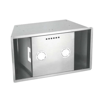 Sirius SU900 Custom Built-In Range Hood Power Pack Insert, 600 CFM Internal Blower, Stainless Steel, 4 Speed Push Button Control Panel, 2x-20W Halogen Lights