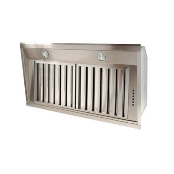 Sirius SU901 Pro-Style Built-In Range Hood, 1100 CFM Dual Internal Blower, Stainless Steel, 4 Speed Push Button Control Panel, 2x-20W Dichroic Lamps