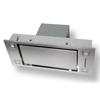 Sirius SU903P Pro-Style Built-In Range Hood, 600 CFM Internal Blower, Stainless Steel, 4 Speed Push Button Control Panel, 4 Halogen Lamps