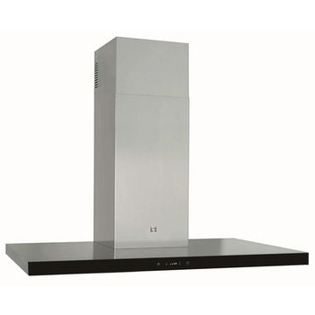 Sirius SUTC92 Wall Mount Range Hood, 600 CFM Internal Blower, Stainless Steel, 4 Speed Remote Control, 50W Dichroic Lamp