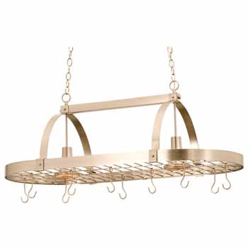 Large Contemporary Pot Rack with Downlights