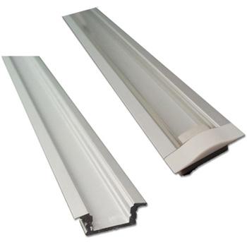 "Task Lighting illumaLED™ 002 Series 48"" Recessed Aluminum Housing Profile, Clear Lens, 48"" Length x 1"" W x 5/16"" H"