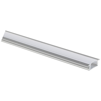 """Task Lighting illumaLED™ 002 Series 48"""" Recessed Aluminum Housing Profile, Frosted Lens, 48"""" Length x 1"""" W x 5/16"""" H"""