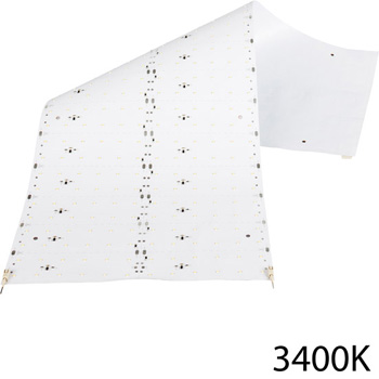 "Task Lighting illumaLED™ LED Sheet Light Series Flexible LED Sheet Light, Specialized Kelvin Temperature 3400K, 24"" W x 9"" D"