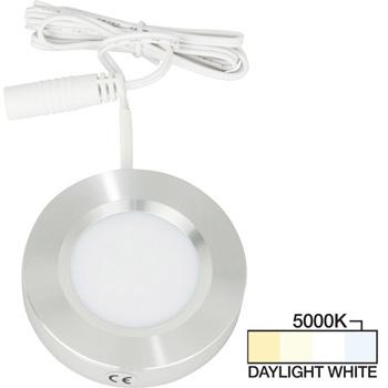 Brushed Aluminum Puck Light, Daylight White 5000K Product View