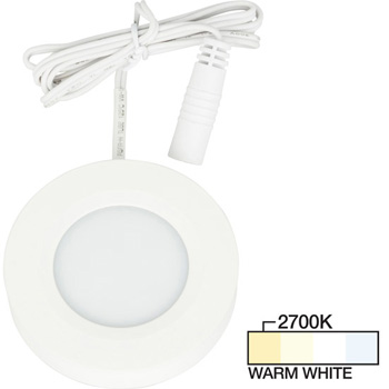 White Puck Light, Warm White 2700K Product View