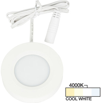 White Puck Light, Cool White 4000K Product View