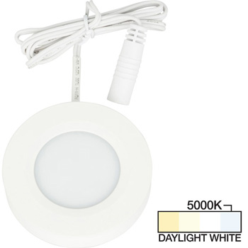 White Puck Light, Daylight White 5000K Product View