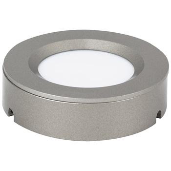 "Task Lighting illumaLED™ TandemLED™ 2-3/4"" Diameter Dark Silver Housing Tunable Multi-White Puck Light, 2-3/4"" Diameter x 5/8"" H"