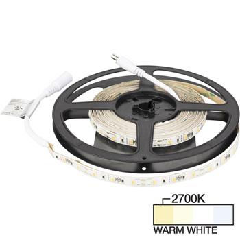 "Task Lighting illumaLED™ Radiance Series 16' Foot LED Tape Light, Medium Light Output, Warm White 2700K, 197"" Length x 5/16""W x 1/16"" H"