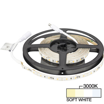 "Task Lighting illumaLED™ Radiance Series 16' Foot LED Tape Light, Medium Light Output, Soft White 3000K, 197"" Length x 5/16""W x 1/16"" H"
