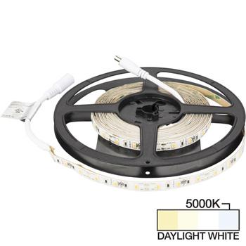 "Task Lighting illumaLED™ Radiance Series 16' Foot LED Tape Light, Medium Light Output, Daylight White 5000K, 197"" Length x 5/16""W x 1/16"" H"