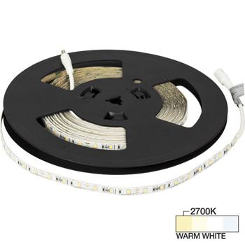 "Task Lighting illumaLED™ Radiance Series 32' Foot LED Tape Light, Medium Light Output, Warm White 2700K, 384"" Length x 5/16""W x 1/16"" H"