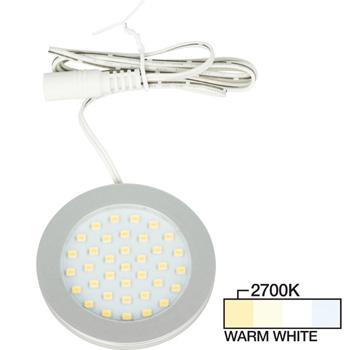 Satin Nickel Puck Light Warm White 2700K Product View