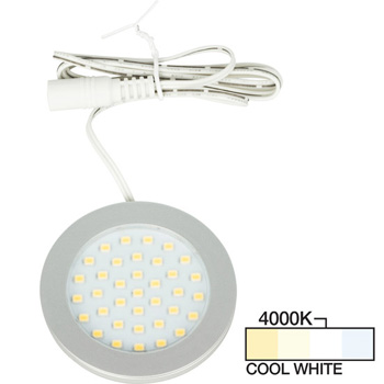 Satin Nickel Puck Light Cool White 4000K Product View