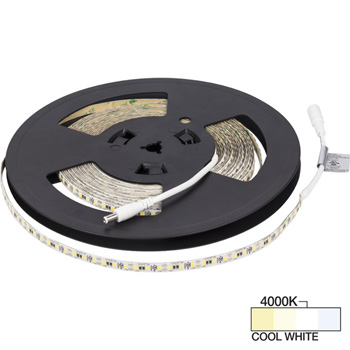 "Task Lighting illumaLED™ Vivid Series 32' Foot Vivid Tape Light, High Light Output, Cool White 4000k, 384"" Length x 5/16""W x 1/16"" H"