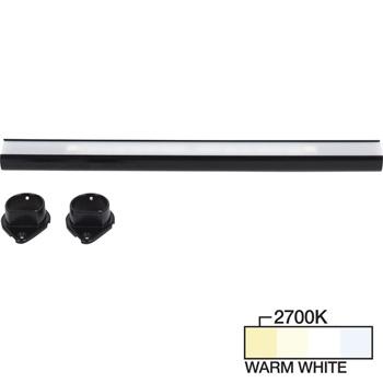 Black Closet Rod, Warm White 2700k View 1