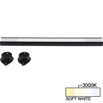 Black Closet Rod, Soft White 3000k View 1