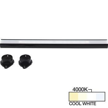 Black Closet Rod, Cool White 4000k View 1