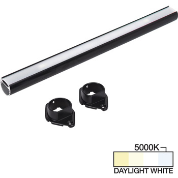 """Task Lighting sempriaLED® LC9R Series 18"""" to 90"""" Black LED Lighted Closet Rod Fixture, Daylight White 5000k"""