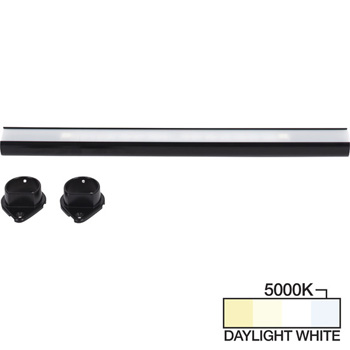 Black Closet Rod, Daylight White 5000k View 1