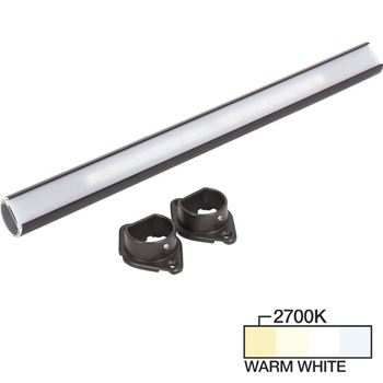 """Task Lighting sempriaLED® LC9R Series 18"""" to 90"""" Bronze LED Lighted Closet Rod Fixture, Warm White 2700k"""