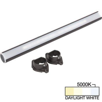 """Task Lighting sempriaLED® LC9R Series 18"""" to 90"""" Bronze LED Lighted Closet Rod Fixture, Daylight White 5000k"""