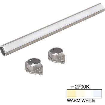 """Task Lighting sempriaLED® LC9R Series 18"""" to 90"""" Satin Nickel LED Lighted Closet Rod Fixture, Warm White 2700k"""