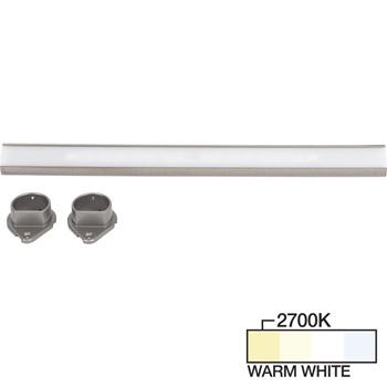 Satin Nickel Closet Rod, Warm White 2700k View 1