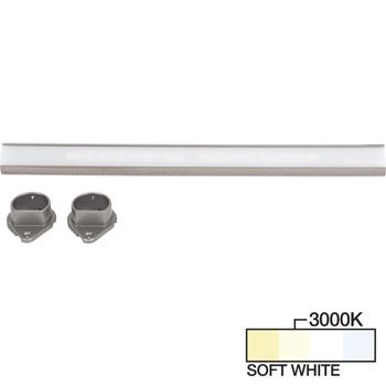 Satin Nickel Closet Rod, Soft White 3000k View 1