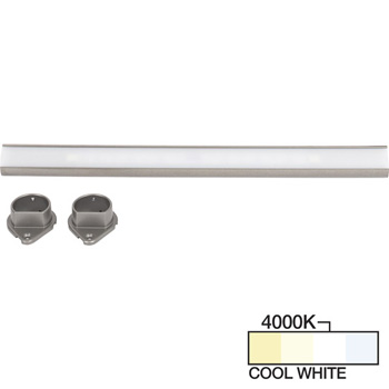 Satin Nickel Closet Rod, Cool White 4000k View 1