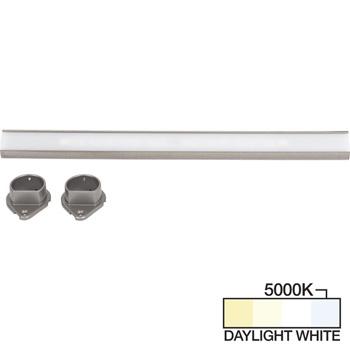 Satin Nickel Closet Rod, Daylight White 5000k View 1