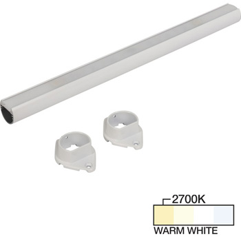 """Task Lighting sempriaLED® LC9R Series 18"""" to 90"""" White LED Lighted Closet Rod Fixture, Warm White 2700k"""